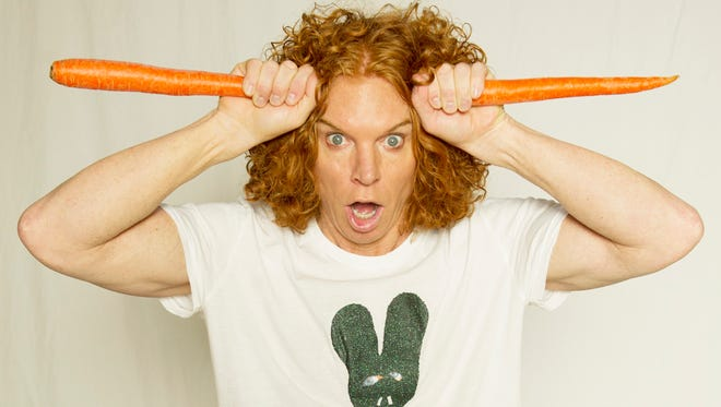 Carrot Top, aka Scott Thompson, performs Friday at The Sunrise Theatre in Fort Pierce.