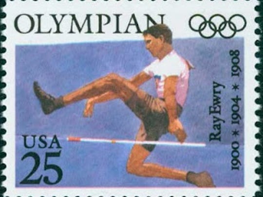 The United States Postal Service honored Lafayette's Ray Ewry with a stamp for being one of our country's greatest Olympians.