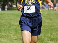 Elco's Jared Harnish ran away with the boys' title during the Lebanon Cross Country Meet at South Hills on Saturday.