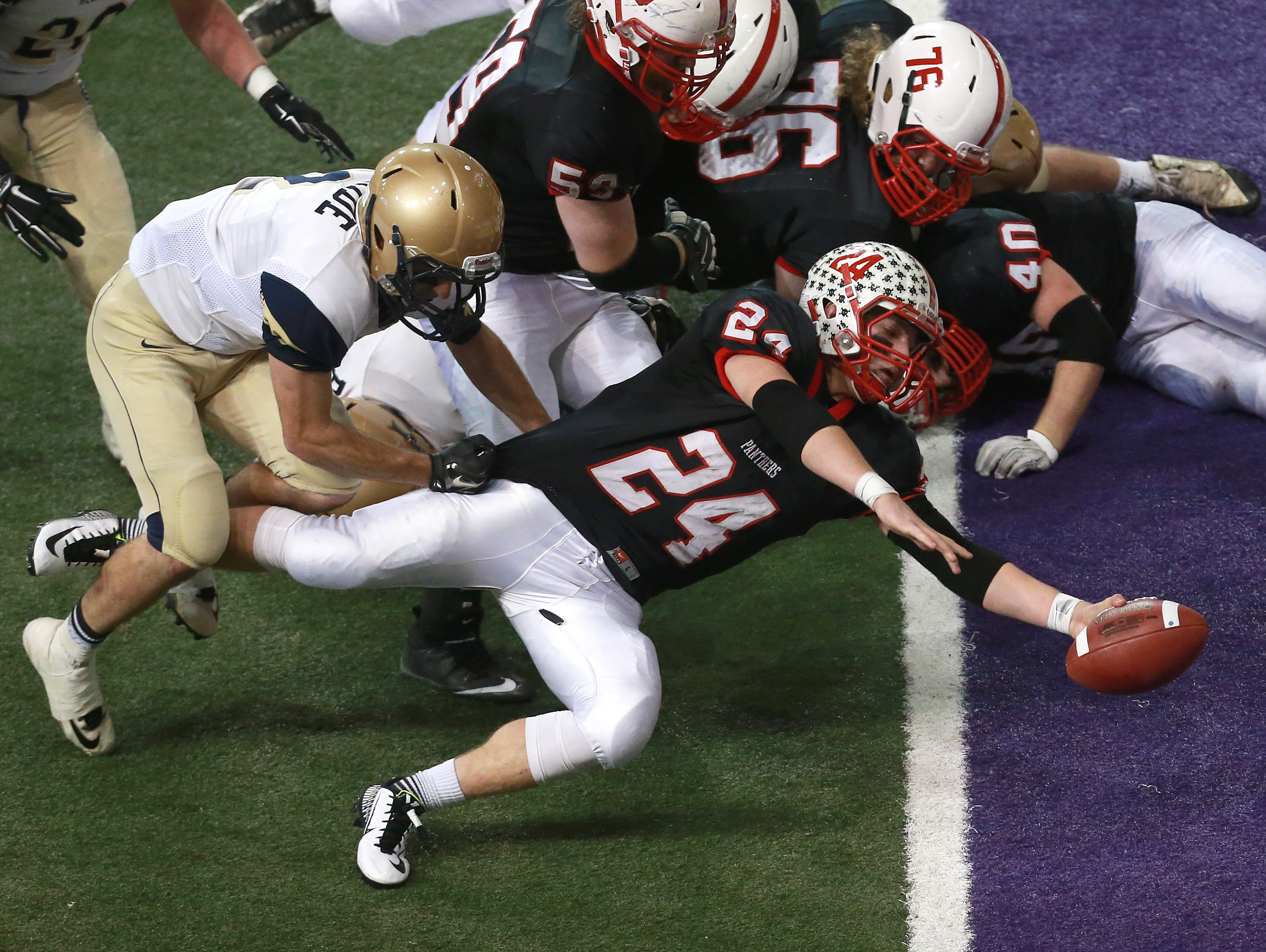 Creston-Oriant-Macksburg running back Chase Shiltz (24) has rushed for 209, 212 and 205 yards in his last three games.