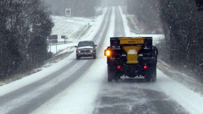 City of Fairview Street Department speads salt during the recent winter weather event.