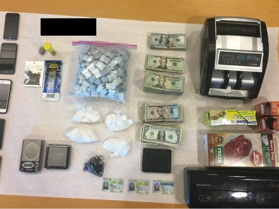 Police seized various drugs including heroin, crack