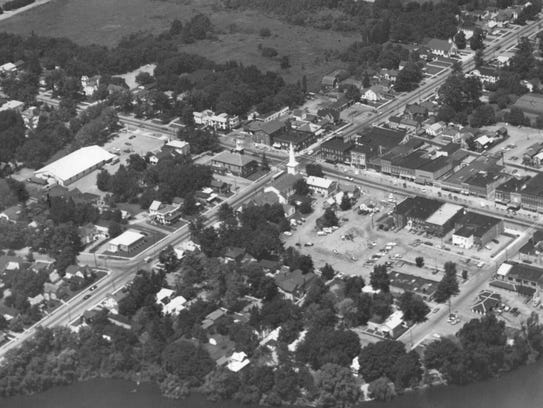 An aerial view of Le Roy taken in 1972 shows some of