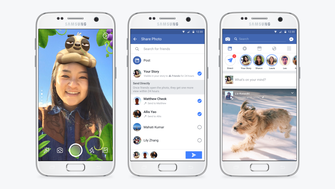 Facebook on Tuesday began rolling out Stories, which encourages people to share photos and videos with friends that vanish after 24 hours.  It also debuted a slew of new camera effects.