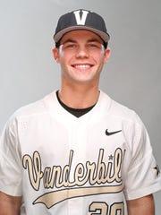 Ty Duvall of Vanderbilt baseball in 2017.