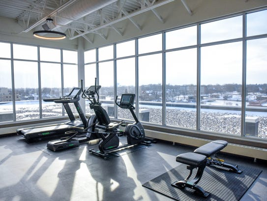 A fitness room for residents of the Washington Square