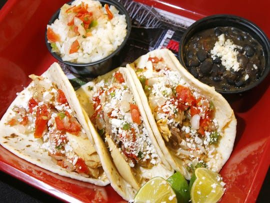 Pollo asada street tacos are among the new items that