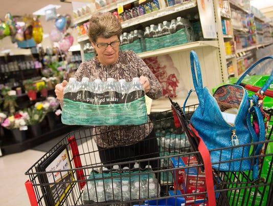 NOT FOR PRINT hurricanes shopping erika bottled water
