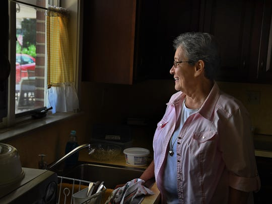 Sister Linda Fischer lives near the sight of the proposed