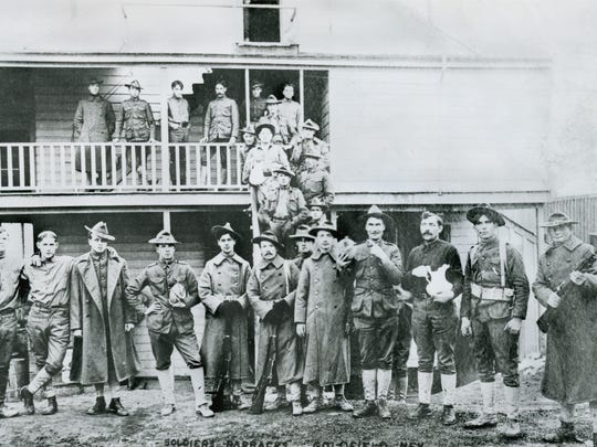 Federal troops during miners' strike, Goldfield, Nevada, 1907.