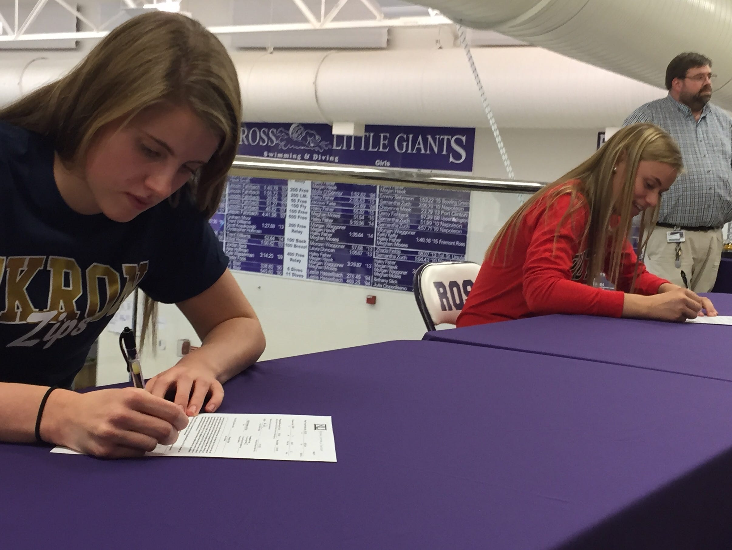 Ross Swimmers Sign D 1 Scholarships Usa Today High School Sports