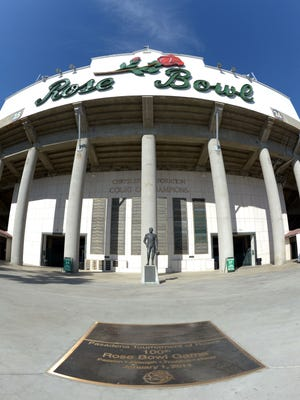 A view of the Rose Bowl.