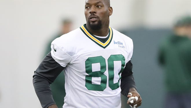 Green Bay Packers tight end Martellus Bennett (80) during practice Tuesday, October 31, 2017  in the Don Hutson Center in Ashwaubenon, Wis.