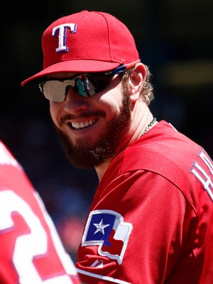 Josh Hamilton has been sidelined since May 31 with a strained left hamstring.