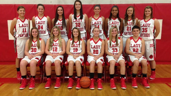 Franklin senior Vanessa Agrusa (back row, fourth from right) has committed to play college basketball for USC Upstate.
