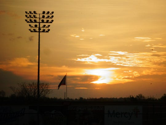 An Easter morning sunrise at Hammons Field.