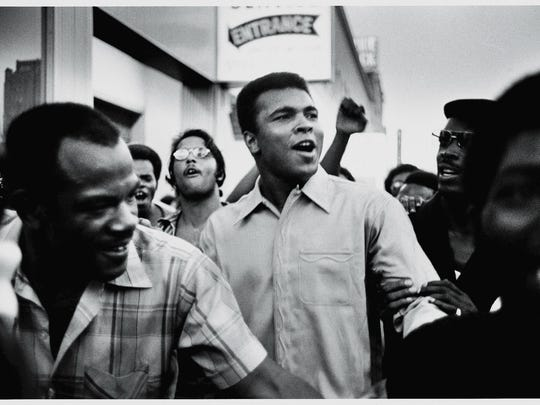 Heavyweight boxer Muhammad Ali.   Getty Images American heavyweight boxing champion Muhammad Ali walks through the streets with members of the Black Panther Party, New York, New York, September 1970. Ali was sentenced to five years in prison and his championship title revoked after he was convicted of draft evasion upon his refusal to serve with the American army in Vietnam upon grounds of conscientious objection. The decision was overtuned in 1971 but Ali became a figurehead of resistance and a hero of the people.