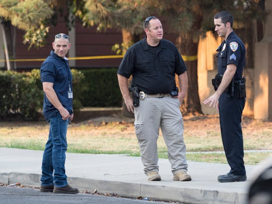 Visalia Police Department investigates a shooting in