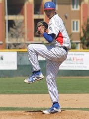 Sawyer Jaksick delivers a pitch in a recent game at Reno High.
