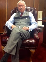 Ocean County Freeholder John C. Bartlett, Jr. in his private office at the Ocean County Administration Building in Toms River.
