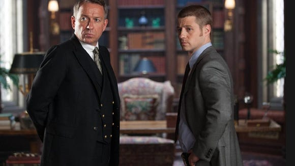 "Sean Pertwee plays Alfred and Ben McKenzie plays Jim Gordon in ""Gotham."""