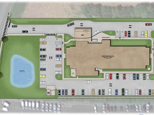 This is the site plan for SpringHill Suites by Marriott. Construction has begun on the hotel located just off Interstate 81 Exit 7 in Chambersburg.