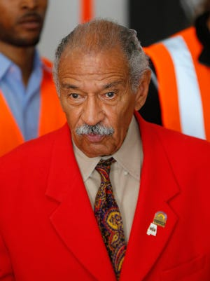 U.S. Rep. John Conyers, D-Mich., speaks in Detroit in July 2014.