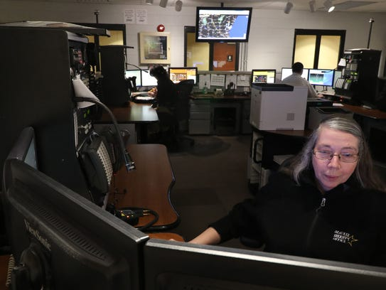 Supervisor Wendy Maechtle works at one of four communications