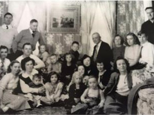 Members of the Osika family are photographed in 1948.