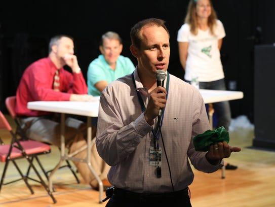 John Morash, the assistant principal at the Bedford