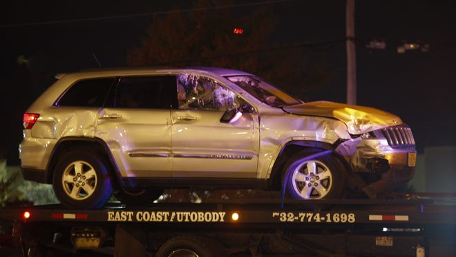 A jeep was involved in a crash with another vehicle on Route 66 in Neptune on Tuesday night.