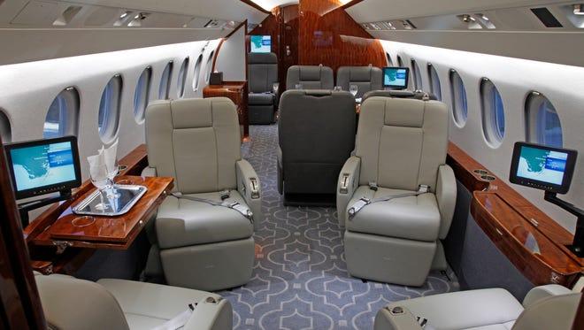 Interior of Fairwinds charter plane