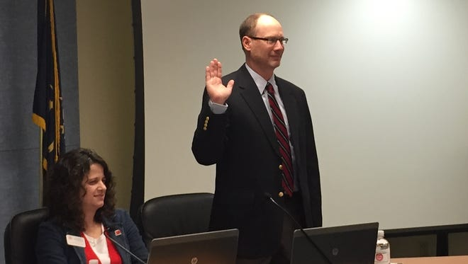 John Weber was sworn in Wednesday as the newest member of the Richmond Community Schools' board of trustees.