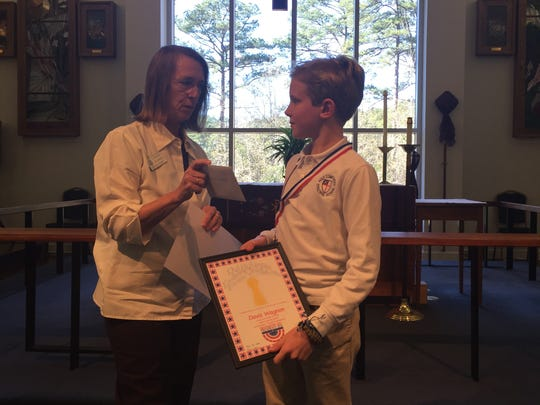 Davis Wagnon, a fourth-grade Holy Comforter student,