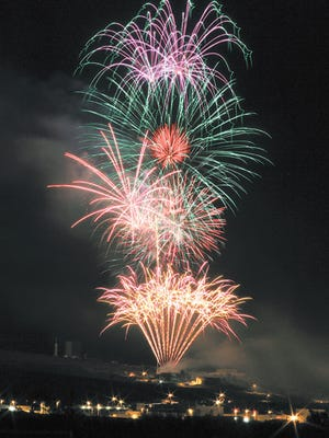 In this Daily News 2015 file photo, Fireworks set off at the New Mexico Museum of Space History light up Alamogordo's skyline.