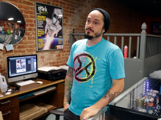 Spaceboy Clothing's David Sanchez said producing memorial shirts for victims of Wilmington's gun violence has become numbingly common.