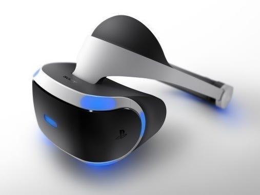 Sony's Project Morpheus virtual reality headset.