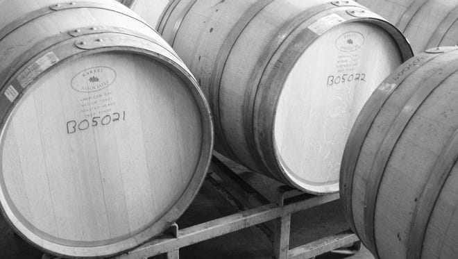 Barrels from Swedish Hill Winery hold some of the treats to be found on the Cayuga Wine Trail.