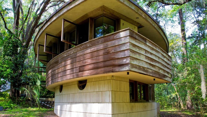 Alan C. Spector Spring House is a Frank Lloyd Wright design in Tallahassee, Florida.