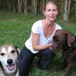 Kristina San Filippo with her dogs, Mateo and Charlie.