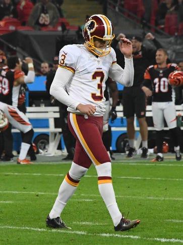 Washington Redskins placekicker Dustin Hopkins (3)