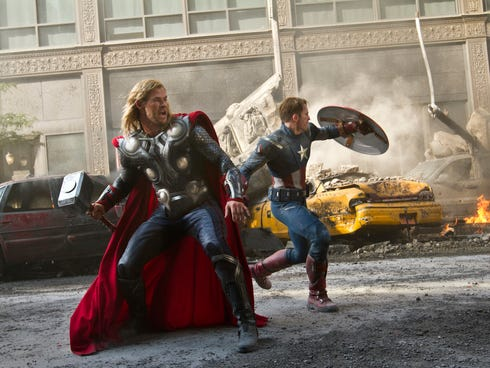 'The Avengers,' starring Chris Hemsworth and Chris Evans, is a popular Netflix title. Now Marvel will produce five new series for the streaming service.