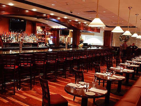 The bar area of Steakhouse 85.