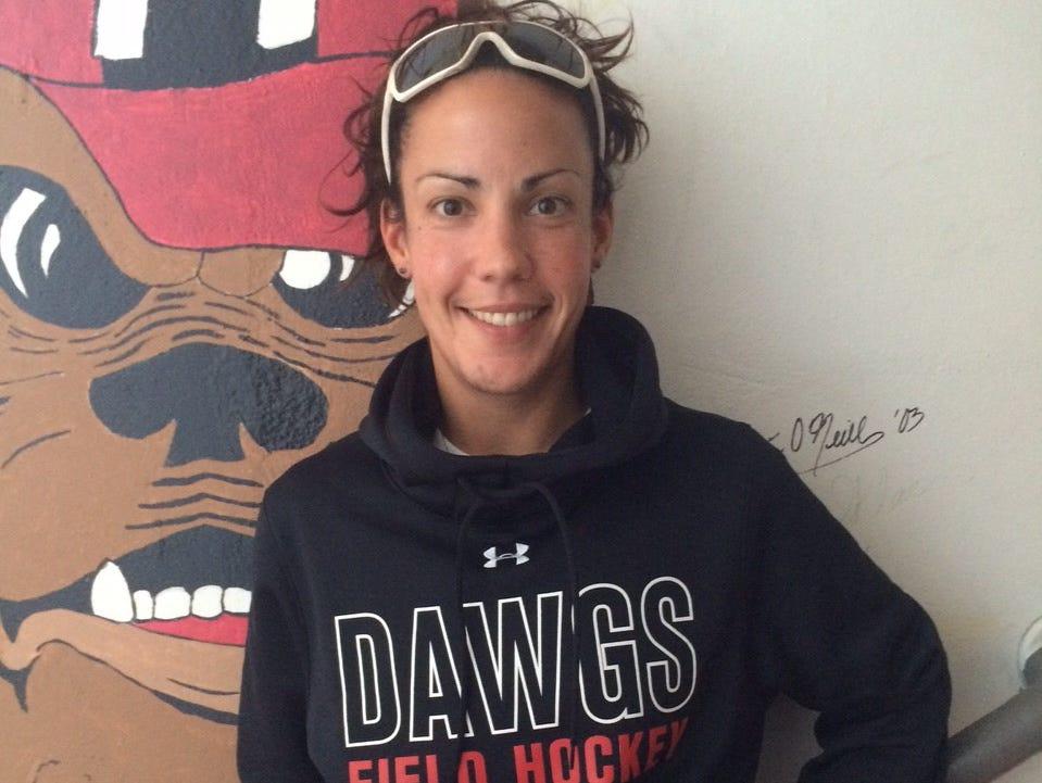 Haddonfield field hockey coach Lindsay Kocher