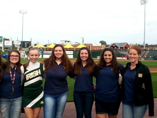 From left to right: Katie Haskell, Catie Putnam, Danielle Weichert, Emily Gruszczynski, Katie Siple, Alexa Draganosky, and Alex Johnson.