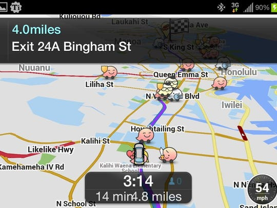 With Waze, you're joined with other drivers in your area to give and get real-time traffic and road information (including construction info, accidents, speed traps, and so on), which saves you time, gas money and aggravation on your vacation.