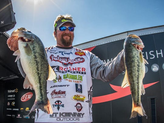 J.T. Kenney led the recent bass tournament after the first day.