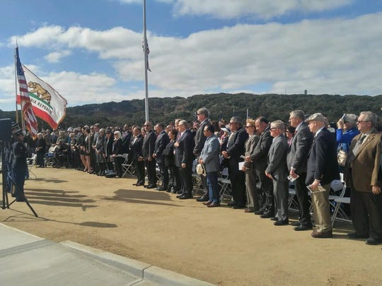 Elected officials at California Central Coast Veterans Cemetery opening in Seaside.