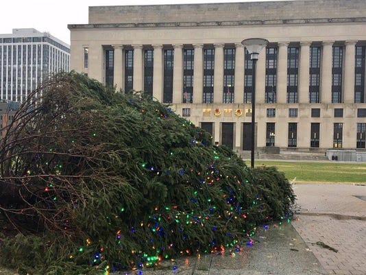 Toppled Christmas Tree