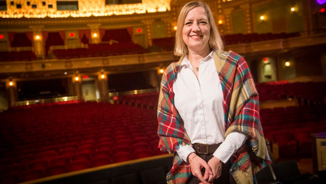 Tennessee Theatre Executive Director Becky Hancock on Wednesday, Nov. 8, 2017.
